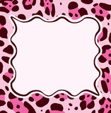 vector frame with abstract leopard skin texture Stock Image