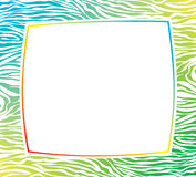 vector frame with abstract zebra skin texture Stock Images