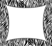 vector frame with abstract zebra skin texture Royalty Free Stock Photo