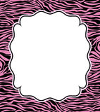vector frame with abstract zebra skin texture Royalty Free Stock Photography