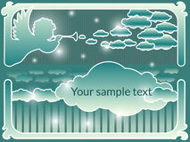 Vector frame with an angel. Stock Images