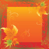 Vector frame with Autumn Leafs. Thanksgiving royalty free illustration