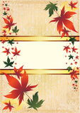 Vector frame with Autumn Leafs. Thanksgiving Stock Photo