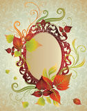 Vector frame with autumn leafs. Thanksgiving Stock Photography