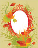 Vector frame with autumn leafs. Thanksgiving Royalty Free Stock Images