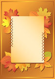 Vector frame with autumn leaves Stock Images