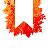 Vector frame with autumn leaves in grunge style Stock Photo