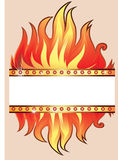 Vector frame background with fire Stock Photo