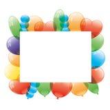 Vector frame. Balloons. Stock Photo