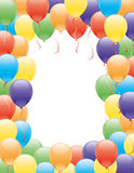 Vector frame. Balloons. Royalty Free Stock Image