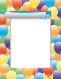 Vector frame. Balloons. Stock Photo