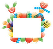 Vector frame. Balloons. Stock Images