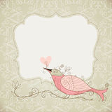 Vector frame with bird Stock Photography