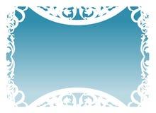 Vector - Frame in Blauw Stock Afbeelding