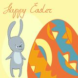 Vector frame card happy Easter Royalty Free Stock Photo