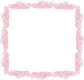 Vector frame - classic retro pink roses Royalty Free Stock Photography