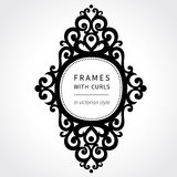 Vector frame with classical ornament in Victorian style. Stock Images