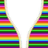 Vector frame of colored pencils. Bright colored pencils, grouped and easy to edit Royalty Free Stock Images