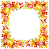 Vector frame with colorful autumn leaves. Royalty Free Stock Photography