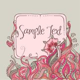 Vector Frame Design with Floral Ornate. Stock Photo