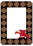 Vector frame with  dragon Royalty Free Stock Image