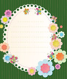 Vector frame with elements of embroidery. Textile Stock Photo
