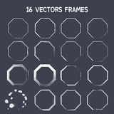 16 vector frame. Vector. eps10 Stock Photo