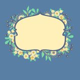 Vector frame with flowers and berries Royalty Free Stock Photos