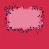Vector frame with flowers and berries 1s Stock Photos