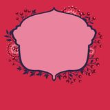Vector frame with flowers and berries 2s Stock Images