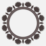 Vector frame with flowers. Vector flower symmetrical frame in dark colors Royalty Free Stock Photos