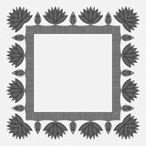 Vector frame with flowers. Vector flower symmetrical frame in dark colors Stock Photography