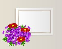 Vector frame with flowers Royalty Free Stock Photos