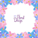 Vector frame with forget-me-not flowers Stock Images