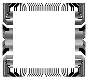 Vector frame with fragment microchip Royalty Free Stock Photo