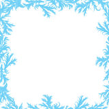 Vector frame of frost patterns Stock Photo