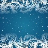 Vector frame of frosty pattern Royalty Free Stock Image