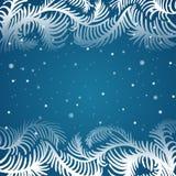 Vector frame of frosty pattern. Vector frosty pattern. Christmas frame Royalty Free Stock Image