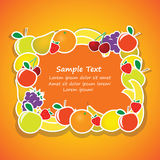 Vector frame from fruits 2 Royalty Free Stock Images