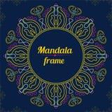 Vector frame Gekleurde mandala Het kan voor prestaties van het ontwerpwerk noodzakelijk zijn Etnische decorat stock illustratie