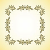 Vector frame of graphic oak leaves Royalty Free Stock Images