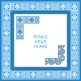 Vector Frame with Greek ornament (Meander) Stock Photo