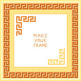 Vector Frame with Greek ornament (Meander) Royalty Free Stock Photos