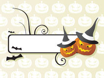 Vector frame on halloween background Stock Photos