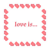 Vector frame heart for text isolated on white background. Vector illustration for Valentines Day. Love concept. Cute happy wallpap. Er. Good idea for your Vector Illustration