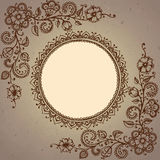 Vector frame with henna floral elements Stock Images