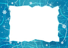 Vector frame from ice. Stock Photos