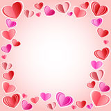 Vector frame made of hearts Royalty Free Stock Photography