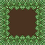 Vector frame made of palm leaves. Stock Photography