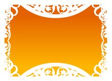 Vector - Frame in Orange stock photography